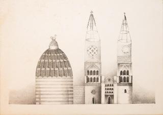 """""""Catedral"""", litogravura de Alex Cerveny"""