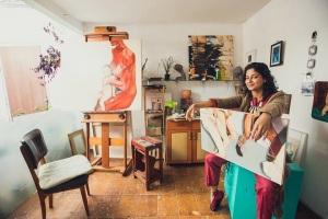 Clarice Gonçalves abrirá ateliê para conversar com o público e mostrar sua obra