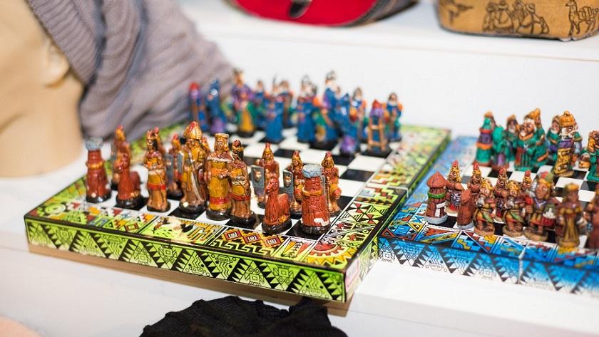 Feira de Artesanato_Jogo de xadrez andino