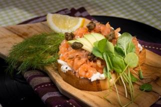 Brioche de salmão