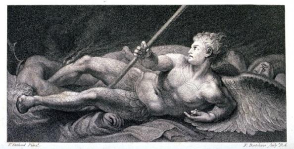Imagens Impressas/Satan, with Head..., de Francesco Bartolozzi