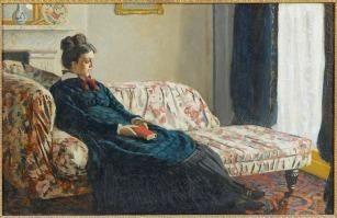 Meditação - Madame Monet Sentada no Sofá, de Claude Monet (1871), Museu de Belas Artes de Rouen, França
