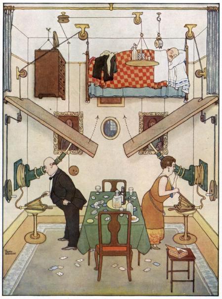 The Spare Room, de William Heath Robinson (1929), Heath Robinson Museum, Londres