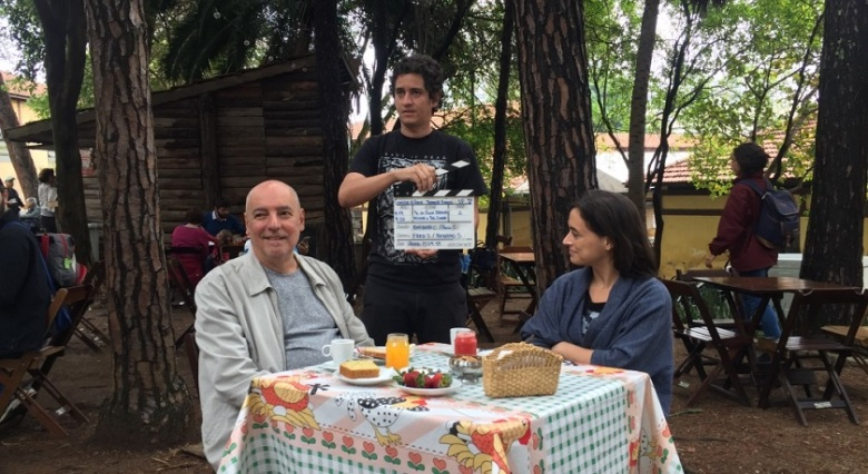 Josimar Melo e a chef Bel Coelho