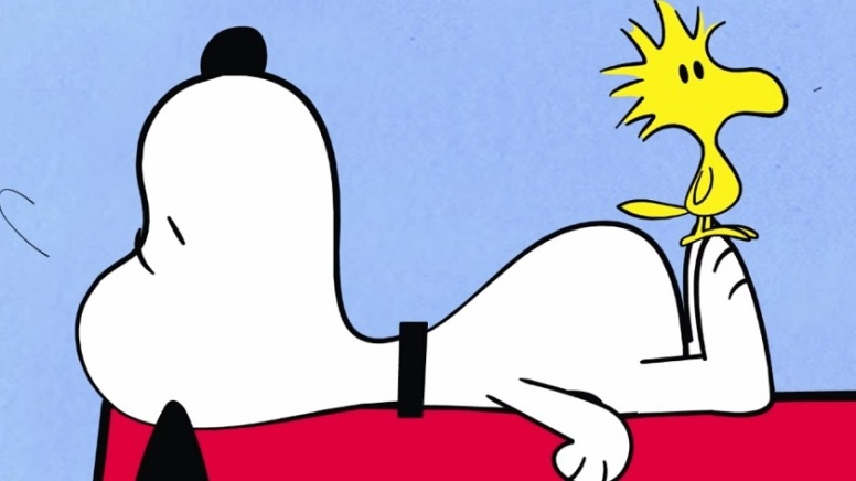 Snoopy e o seu amigo Woodstock