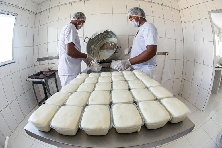 Produção artesanal do Queijo do Marajó Fazenda São Victor.